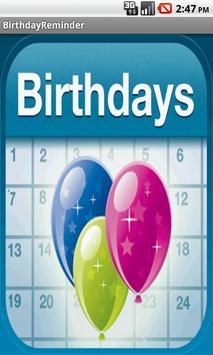 BIRTHDAY REMINDER poster