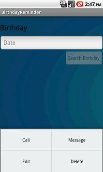 BIRTHDAY REMINDER apk screenshot