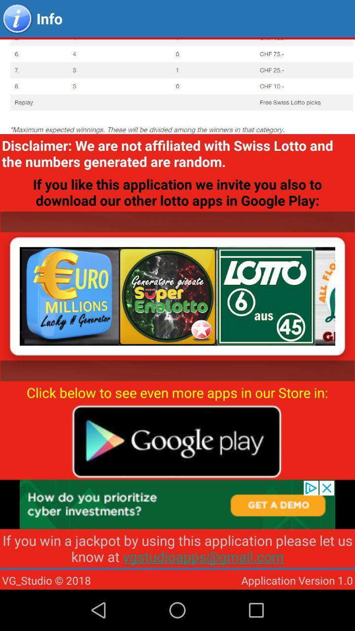 Swiss Lotto Lucky Numbers Generator for Android - APK Download