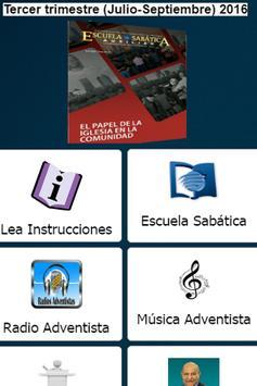 Escuela Sabatica 2016 poster