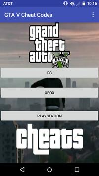 All Cheat Codes for GTA V poster