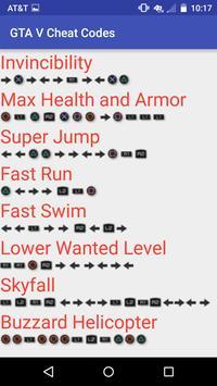 All Cheat Codes for GTA V screenshot 3