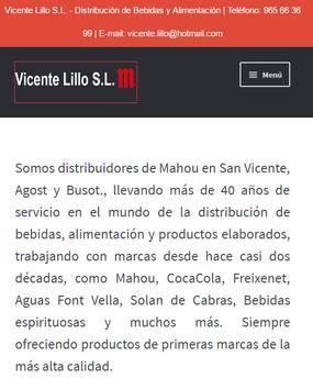 Catalogo Vicente Lillo poster