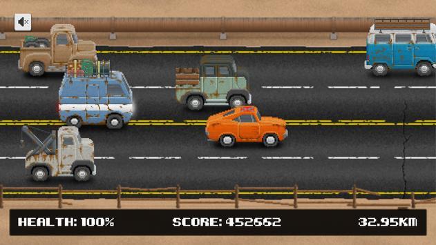 Rusty Bus: Flat tire run - One-tap Survival runner screenshot 2