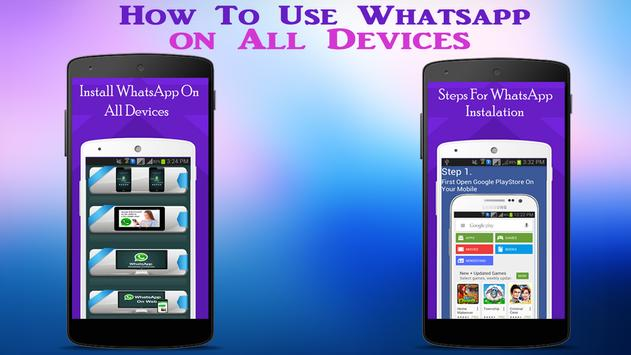 Guide WhatsApp on all Device poster