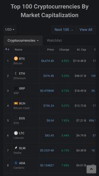 Crypto Live Chart - Bitcoin Altcoin Price screenshot 1