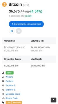 Crypto Live Chart - Bitcoin Altcoin Price screenshot 2