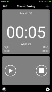 boxing interval timer-poster