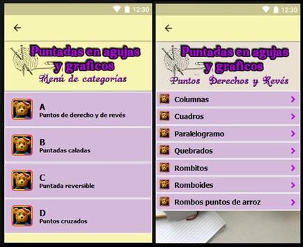 Puntadas en agujas y gráficos, proyectos faciles. screenshot 9