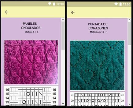 Puntadas en agujas y gráficos, proyectos faciles. screenshot 13