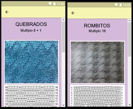 Puntadas en agujas y gráficos, proyectos faciles. screenshot 11