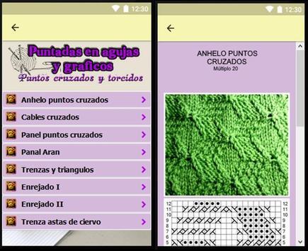 Puntadas en agujas y gráficos, proyectos faciles. screenshot 14