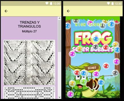 Puntadas en agujas y gráficos, proyectos faciles. screenshot 23