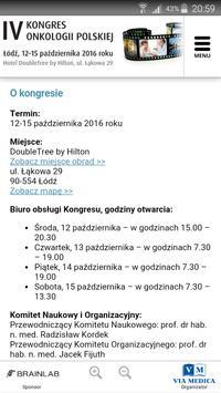 IV Kongres Onkologii Polskiej screenshot 1