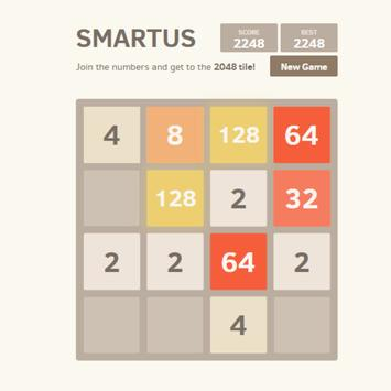 SMARTUS Puzzle Game 2048 screenshot 2