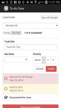 To-do Gear: to-do & task list screenshot 1