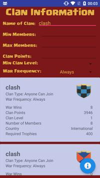 Clan Finder for Clash of Clans poster