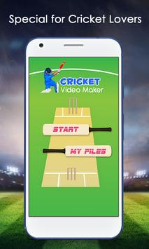 IPL Cricket Video Maker poster