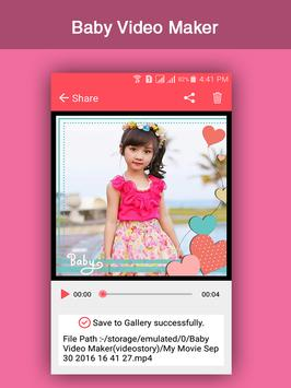 Baby Video Maker apk screenshot