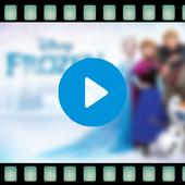 Video of Disney frozen cartoon icon