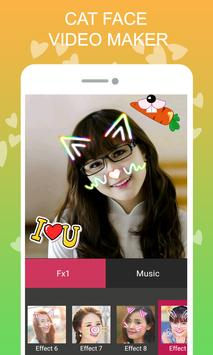 Cat Face Video Maker apk screenshot