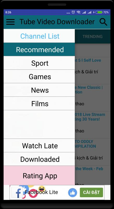 Video show tube downloader for android apk download.