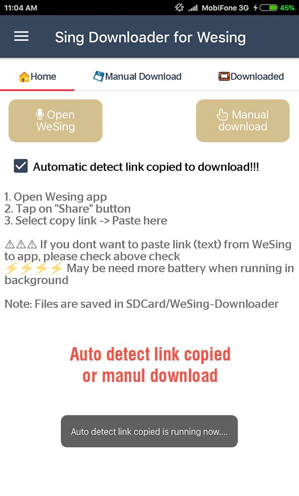 sing downloader for wesing for android