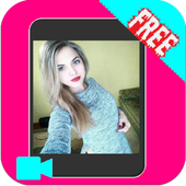 Girl live video chat icon