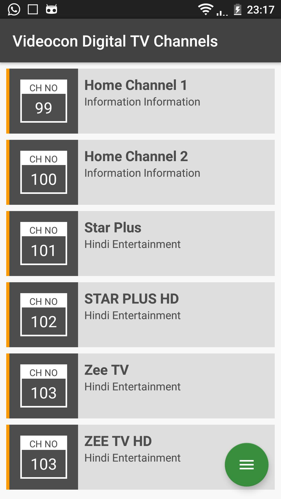 Videocon Digital TV Channels for Android - APK Download