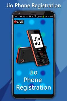Free Jiio Phone Registration poster