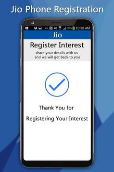 Free Jiio Phone Registration screenshot 1