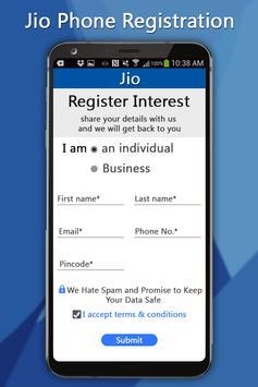 Free Jiio Phone Registration screenshot 2