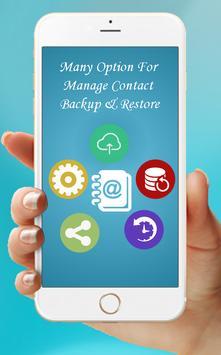 Easy Contact Backup & Restore apk screenshot
