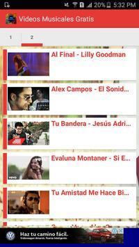 Videos Musicales Gratis screenshot 1