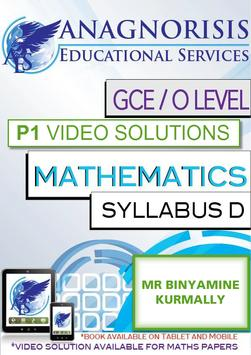 Video Solutions CIE O Level Maths D Paper 1 poster
