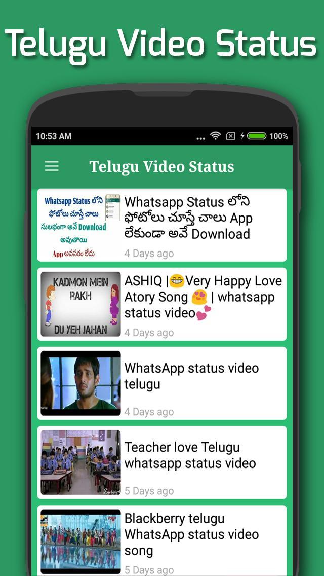 😝 Whatsapp status love video song download telugu
