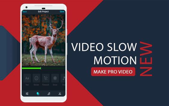 slow motion & fast motion converter Video Maker poster