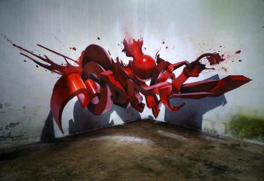 3D Graffiti For Art 2018 poster