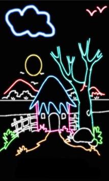 Glowing Drawings Art 2018 poster
