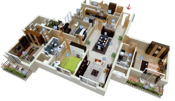 Minimalist Home Planner 3D poster