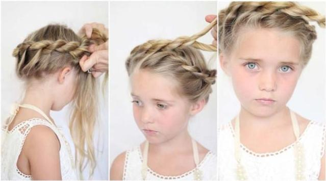 Hairstyles Cute Little Girl screenshot 2