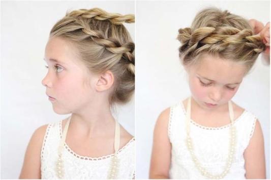 Hairstyles Cute Little Girl screenshot 3