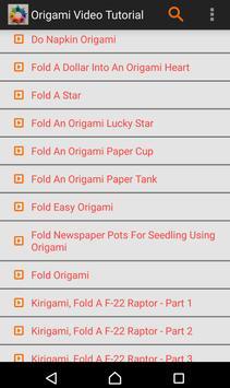 Origami Video Tutorial screenshot 1