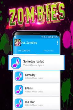 Ost. Zombies All songs lyrics and video screenshot 1