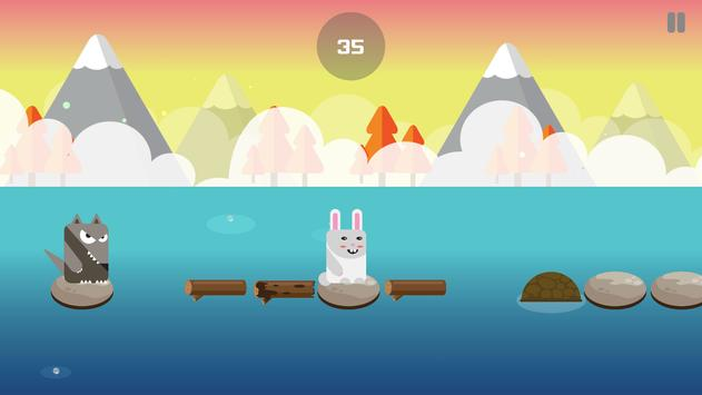 Blocky Rabbit Jumping poster