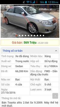 xe ô tô cũ Việt Nam screenshot 16