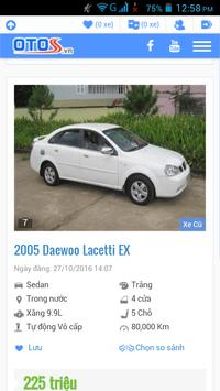 xe ô tô cũ Việt Nam apk screenshot