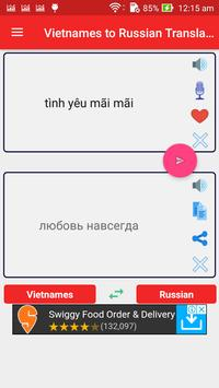 Vietnamese to Russian Translator poster