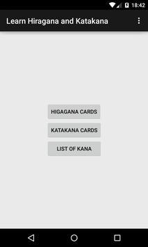 Learn Hiragana and Katakana poster