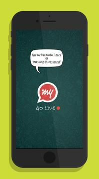 Train Live Location & PNR status On Your WhatsApp poster
